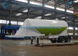 원뿔꼴 Shaped 30m3 Dry Bulk Trailer, Cement Tanker Tandem Semi Trailer