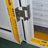 Porta de alumínio revestida do Casement do pó branco da cor com tamanho pequeno Kz200 do painel de alumínio