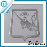 Etiqueta engomada metálica de la etiqueta engomada de la plata de la etiqueta engomada decorativa de encargo del níquel