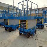 Anhebendes Plattform-manuelles Bewegliches Scissor hydraulischer Aufzug-Tabelle