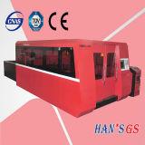 Alta precisión y máquina para corte de metales del laser de funcionamiento de la fibra grande del vector