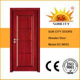日曜日の都市によって塗られる単一の木のドア(SC-W003)