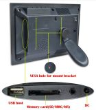 """O bloco de AC/Battery operou 7 """" que anunciam o indicador de diodo emissor de luz"""