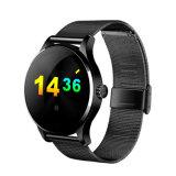 Relógio esperto redondo de 2016 K88h com o monitor da frequência cardíaca