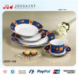 Jogo de jantar cerâmico da porcelana da placa lisa da louça de China