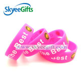 modo Printed Silicone Wristband con Customized Logo