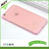 Cubierta transparente del teléfono móvil de TPU, cubierta del teléfono celular para el iPhone