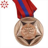 Die Casting de cobre Medalla Natación con el logo grabado (XY100607)