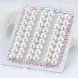 mitad redonda de la perla floja de agua dulce perforada de los pares del botón de 8-9m m que corresponde con Aaaa al por mayor