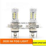 luzes do carro do diodo emissor de luz do poder superior 80W com o bulbo Running do tempo do dia da luz de névoa do carro da lente do diodo emissor de luz