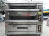 L'acier inoxydable 3 pose le traitement au four commercial de four de pain de Pita de pizza de gaz de 9 plateaux à vendre (ZMC-309M)