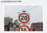 Passerelle de la voie solaire Speed Load Traffic Limit Sign