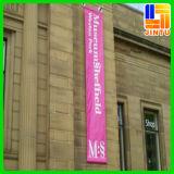 Lados dobro bandeira de suspensão impressa da rua do PVC para anunciar