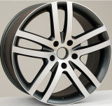Bordas da roda da liga do carro da face da máquina da prata da roda F9866 para Audi