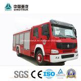 Carro profesional de la lucha de fuego del carro de la lucha contra el agua de la fuente y el fuego de los coches de bomberos de la espuma con talla del tanque 5m3+2m3