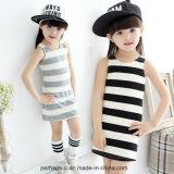 Usura a strisce Sleeveless di estate della maglia del vestito dalle bambine di alta qualità