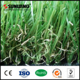 Estera artificial barata material del caucho de la hierba del PPE del certificado del SGS