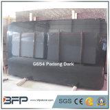 Lajes do granito do preto escuro de G654 Padang para telhas de revestimento/telhas da parede