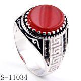Ring van de Manier van de juwelen van de fabriek de In het groot Zilveren