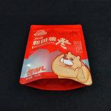 Customzied Transperant lamellierte Fastfood- Reißverschluss-Beutel 3 Schichten aufrechte Plastiktasche für Nahrungsmittelpaket mit Reißverschluss