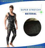 Wetsuit super de Spearfishing do mergulho autónomo de Camo do estiramento do neopreno do homem