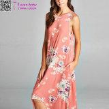 方法新式のハイ・ロー花のマキシの服L51417