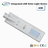 luz de rua solar Integrated do diodo emissor de luz do sensor de 40W PIR