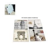 Couvre-tapis en céramique de cuvette de vente en gros de fournisseur de la Chine, couvre-tapis personnalisé de cuvette d'impression de modèle