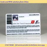 Schede prestampate del PVC con il codice a barre/codice di serie Number/Qr