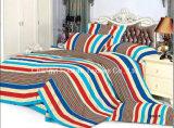 Cama king-size New Style Tecido de cetim Flower Poly / Cotton Bedding Set / Linen / Sheet / Pillow