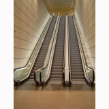 Escalera móvil de interior de la alameda de compras con 30 35 grados