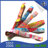 Wristband tecido da tela da aptidão da amostra livre festival feito sob encomenda profissional