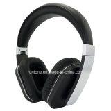 Écouteurs stéréo d'Au-dessus-Oreille sans fil de Bluetooth avec le microphone et le contrôle du volume - noir