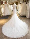 인어 결혼 예복 2017년이 SL-29 사치품 구슬 Tulle 레이스에 의하여 아플리케를 한다