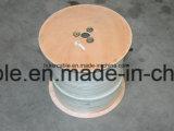 Cable coaxial blindado patio RG6 con alta calidad
