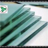 vidrio de Tempere de la impresión de la seda de 8-12m m con el borde plano