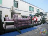 Curso de obstáculo inflable durable gigante para los adultos