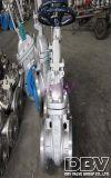 Válvula de puerta asentada suave del borde de la rueda de mano CF8