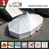 15mの幅のマルチ側面が付いている混合された最も高いピークのテントは明白な白PVCサイドウォールをすべてに終了する