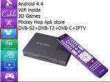 Dvb-s2+dvb-T2 van de Steun van de Doos van TV van Kodi IPTV Androïde/dvb-c/isdb-T+IPTV