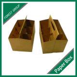 Aufbereiteter Packpapier-Kasten für 6 Satz-Bier-Träger