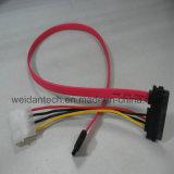 SATAのハード・ドライブ力同期信号データケーブル