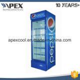 Einzelne Tür-aufrechter Getränkebildschirmanzeige-Kühlvorrichtung-Kühlraum mit dem direkten Abkühlen