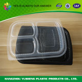 5 격실 Bento 도시락, 처분할 수 있는 안전 플라스틱 음식 콘테이너