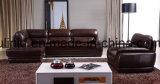 Sofá de cuero moderno de los muebles de la sala de estar (UL-NS021)