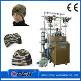 ベレー帽の帽子の編む機械