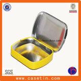 Pequeño rectángulo barato rectangular del estaño del regalo del precio del rectángulo de cigarro de la alta calidad con la bisagra