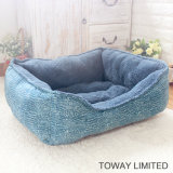 Coral Soft Winter Warm Dog Cushion Square Flocked Pet Beds