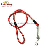 Laisse lourde de corde de crabot avec le ressort amortisseur d'acier inoxydable (KC0110)
