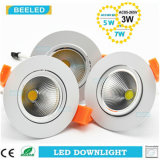 3W lámpara Dimmable LED Downlight del techo de la MAZORCA LED
